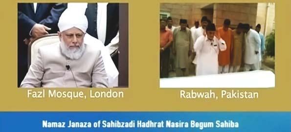 Funeral & Burial services held for Sahabzadi Hadhrat Nasira Begum