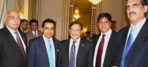 Chairman Senate Farooq Naik , HC Waji Shamsul Hassan, Lord Tariq Ahmed, Naheed Randhawa & Tariq Dar
