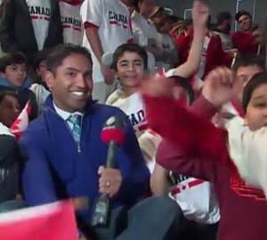 Ahmadiyya celebrate Team Canada's Gold medal hockey win at Sochi