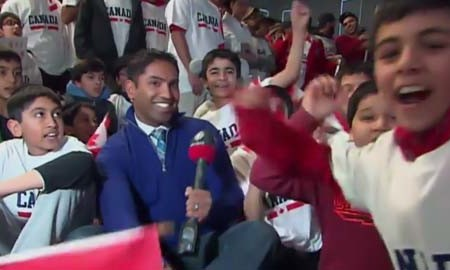 Ahmadiyya celebrate Team Canada's Gold medal hockey win at Sochi