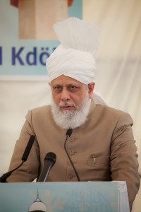 Hazrat Mirza Masroor Ahmad addresses Karben Mosque foundation laying