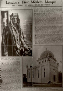 Newspaper report one day before the mosque to be opened by Prince Faisal.