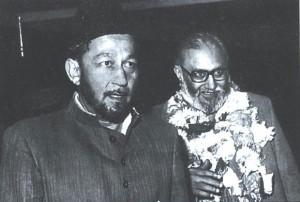 Dr Abdus Salam with Mirza Tahir Ahmad