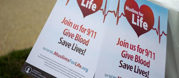 Muslims for Life Blood Drives to mark 13th anniversary of 9/11