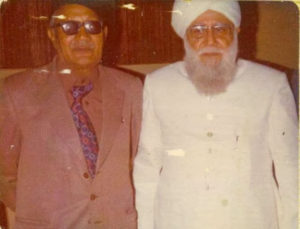 Senator Zahoor Sahib with Hazrat Khalifa Salas (r) Maybe in 1978
