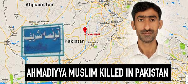 Ahmadiyya Muslim killed in apparent sectarian attack in Taunsa, Pakistan