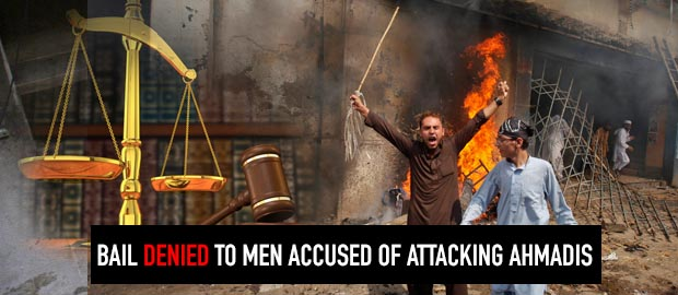 Pakistani court refuses bail to four men accused of attacking Ahmadiyya homes