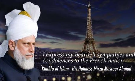 Khalifa of Islam condemns Paris attacks and prays for victims