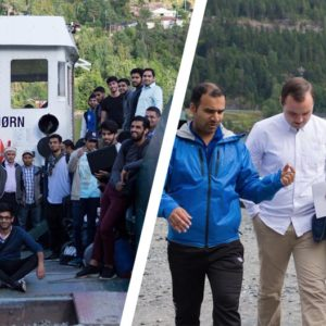 Norwegian Muslims gather to pray for Utøya attack victims on 5th anniversary