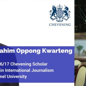 Ghanian Journalist awarded Chevening Scholarship