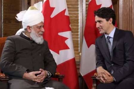 Canadian PM Justin Trudeau welcomes 'Khalifa of Islam'