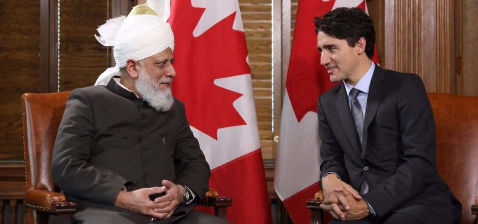 Canadian PM Justin Trudeau welcomes 'Khalifa of Islam'